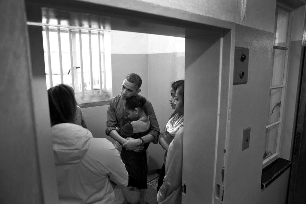 Obama no cárcere de Mandela