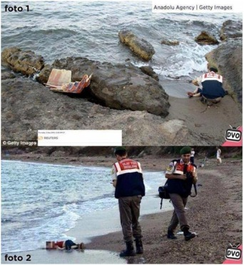 Manipulación foto de Aylan Kurdi